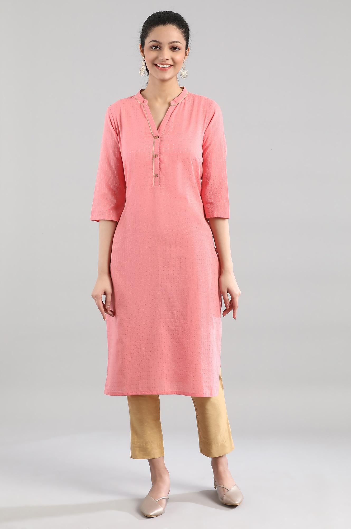 Aurelia | Pink Casual Cotton Kurta