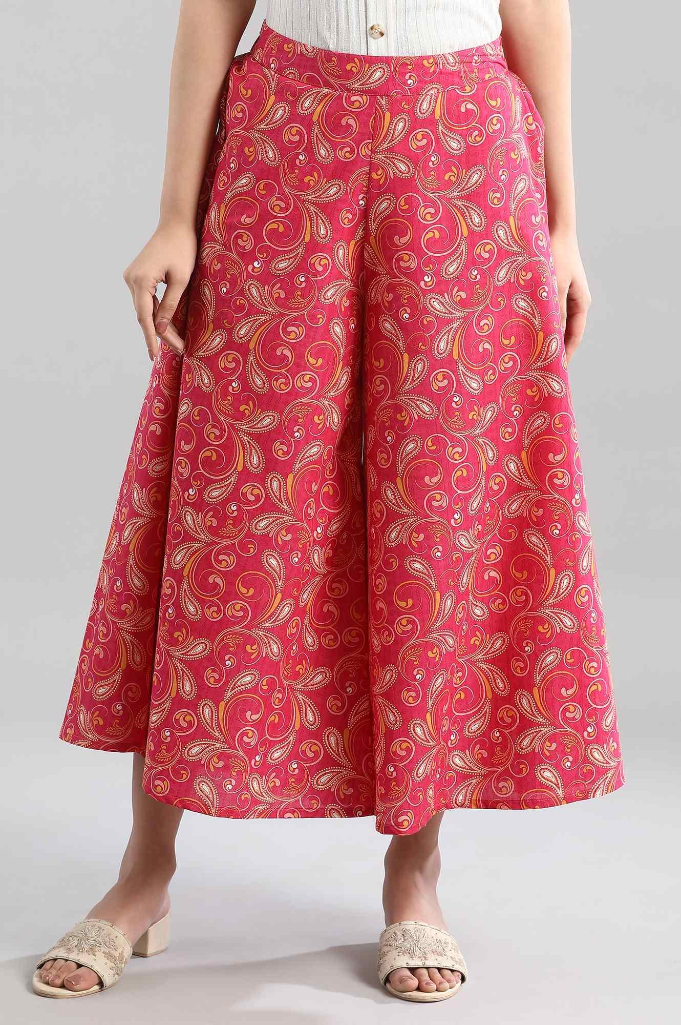 Aurelia | Pink Printed Culottes