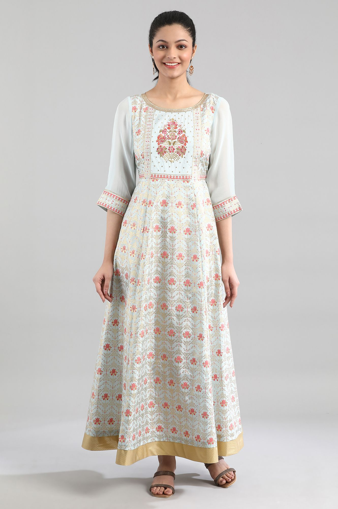 Aurelia | Light Blue Embroidered Dress