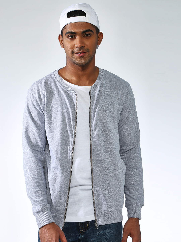 Blue Saint | Blue Saint Men's Grey Regular Fit Sweatshirts