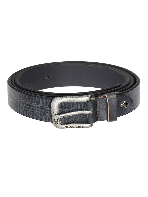 WildHorn | WildHorn Classic Leather Blue Belt for Men
