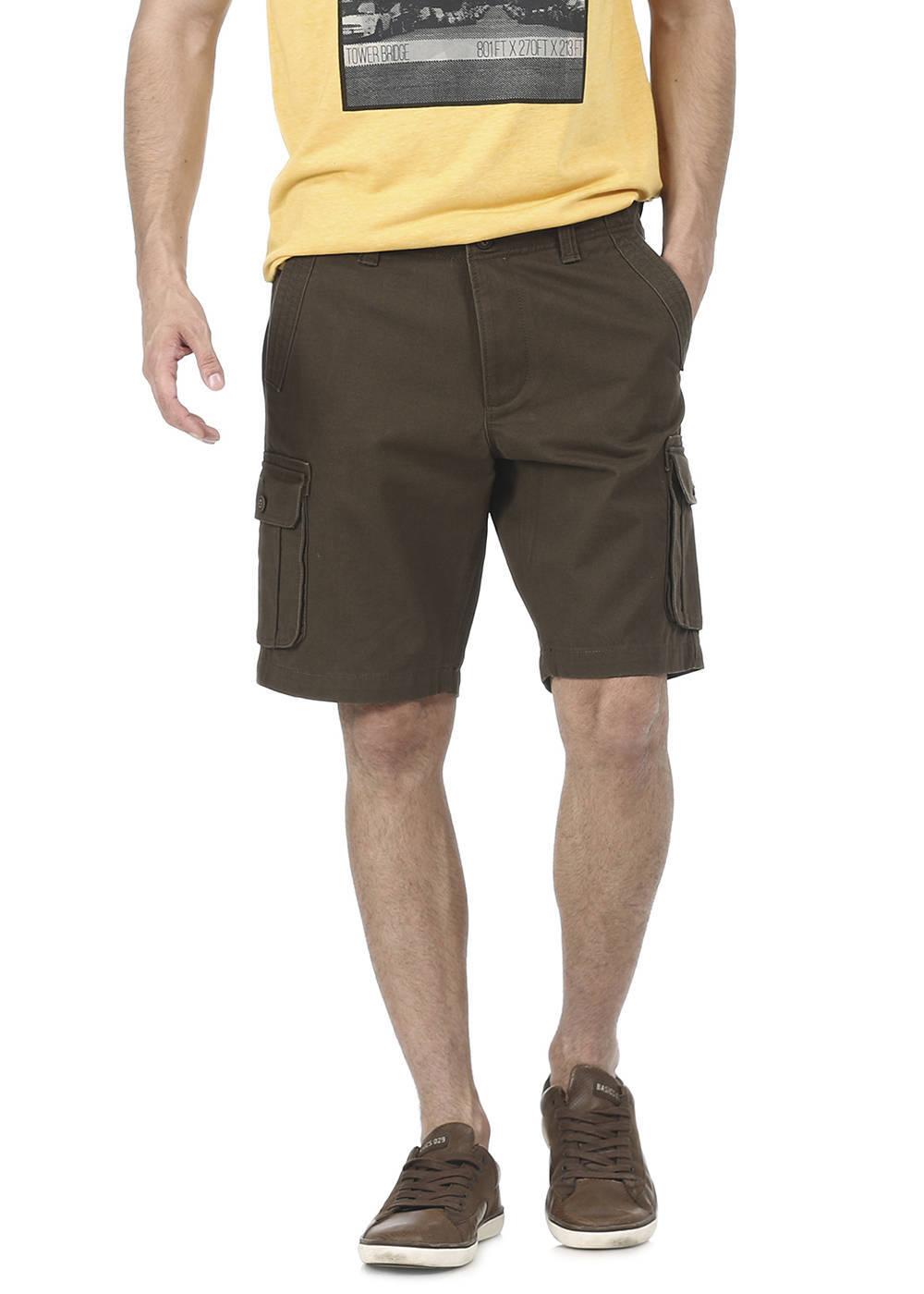 Basics   Basics Comfort Fit Military Olive 6 Pocket Cargo Shorts
