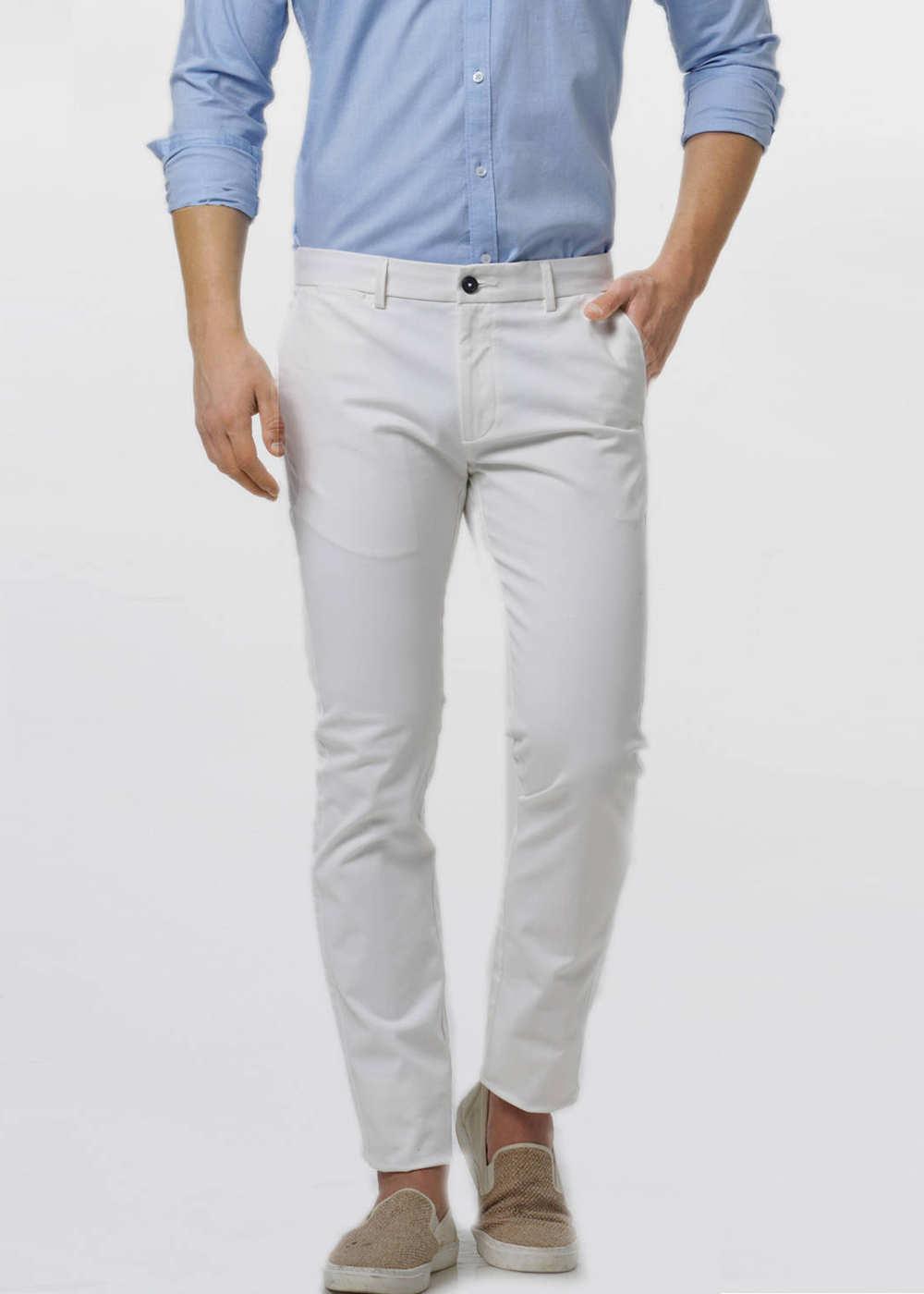 Basics | Basics Tapered Fit Cloud White Twill Trouser