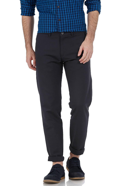 Basics | Basics Tapered Fit Pirate Black Cotton Trouser