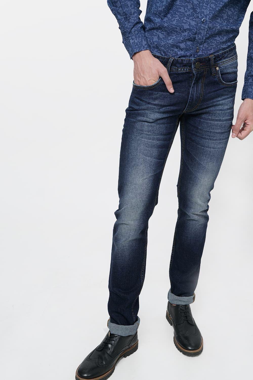 Basics | Basics Blade Fit Dress Navy Stretch Jean