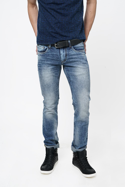 Basics | Basics Torque Fit Dusty Blue Stretch Jean
