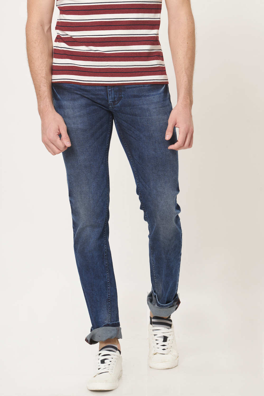 Basics | Basics Torque Fit Graphite Navy Stretch Jean