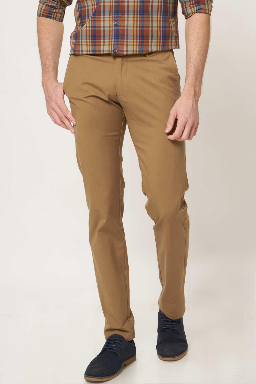 Basics | Basics Tapered Fit Bone Khaki Stretch Trouser