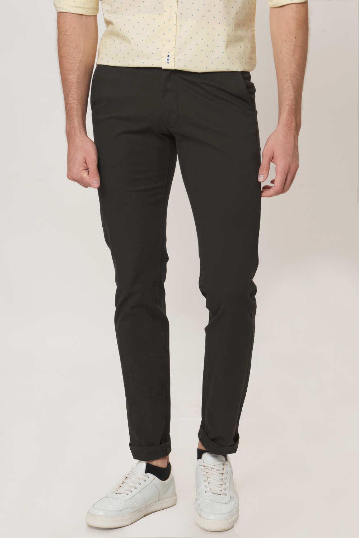Basics   Basics Tapered Fit Periscope Grey Stretch Trouser