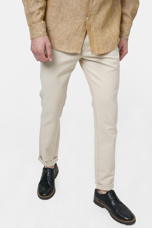 Basics   Basics Tapered Fit White Swan Stretch Trouser