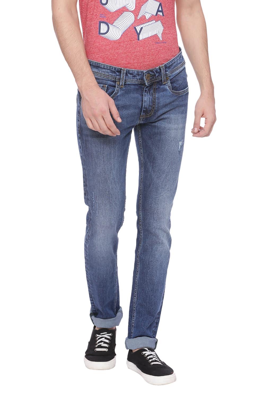 Basics | Basics Torque Fit Peacoat Stretch Jean