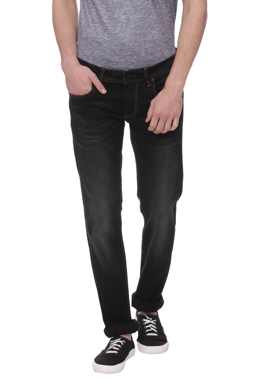 Basics   Basics Torque Fit Jet Black Stretch Jean