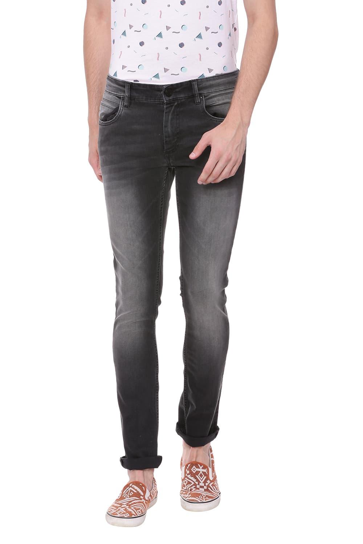 Basics | Basics Blade Fit Anthracite Black Stretch Jean
