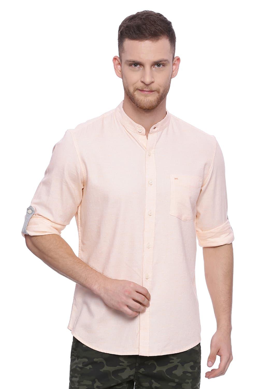 Basics | Basics Slim Fit Pearl Blush Twill Chambray Shirt