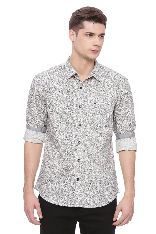 Basics | Basics Slim Fit After Glow Printed Shirt