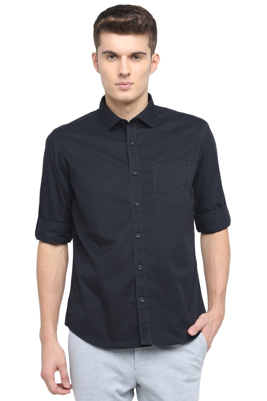 Basics | Basics Slim Fit Black Ink Twill Shirt
