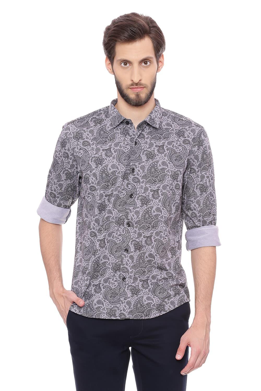 Basics | Basics Slim Fit Gargoyle Grey Knit Shirt