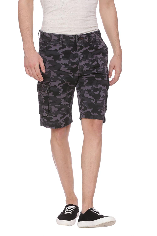 Basics   Basics Comfort Fit Castle Rock Grey 6 Pocket Cargo Shorts