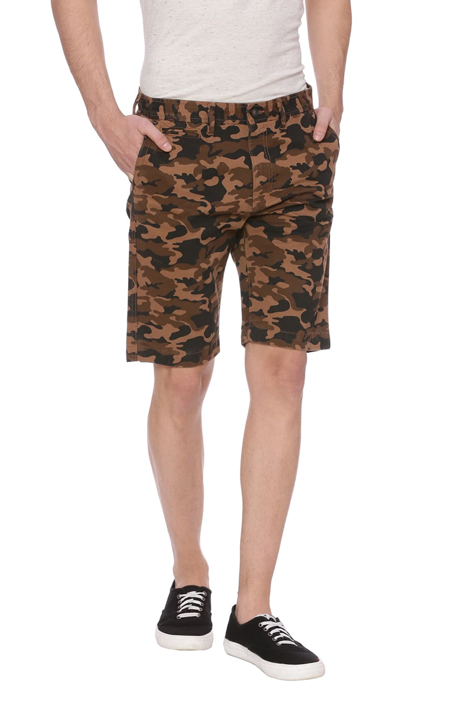 Basics | Basics Comfort Fit Otter Brown Camo Shorts