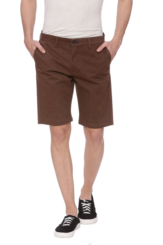 Basics | Basics Comfort Fit Rain Drum Brown Shorts