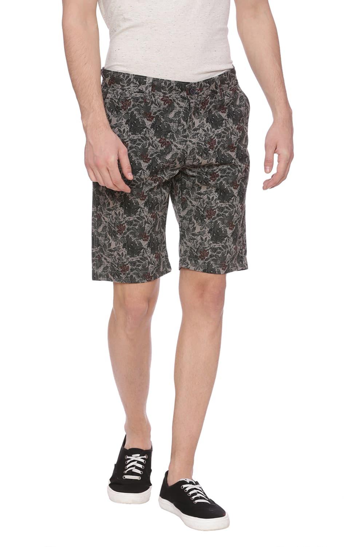 Basics | Basics Comfort Fit Moon Mist Grey Printed Shorts