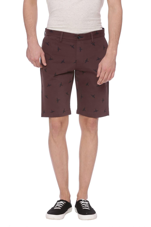Basics | Basics Comfort Fit Pepper Corn Red Shorts