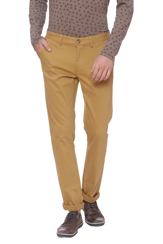 Basics | Basics Tapered Fit Medal Bronze Khaki Stretch Trouser