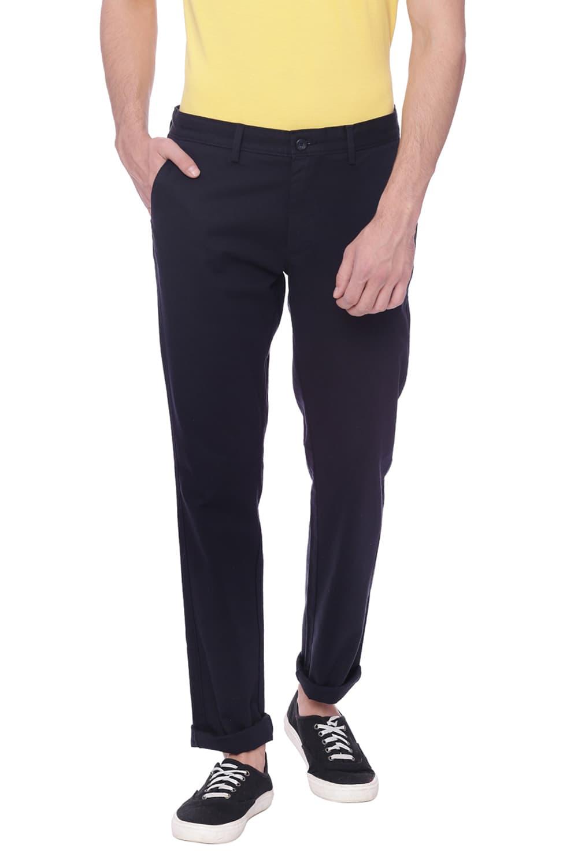 Basics | Basics Tapered Fit Salute Navy Stretch Trouser