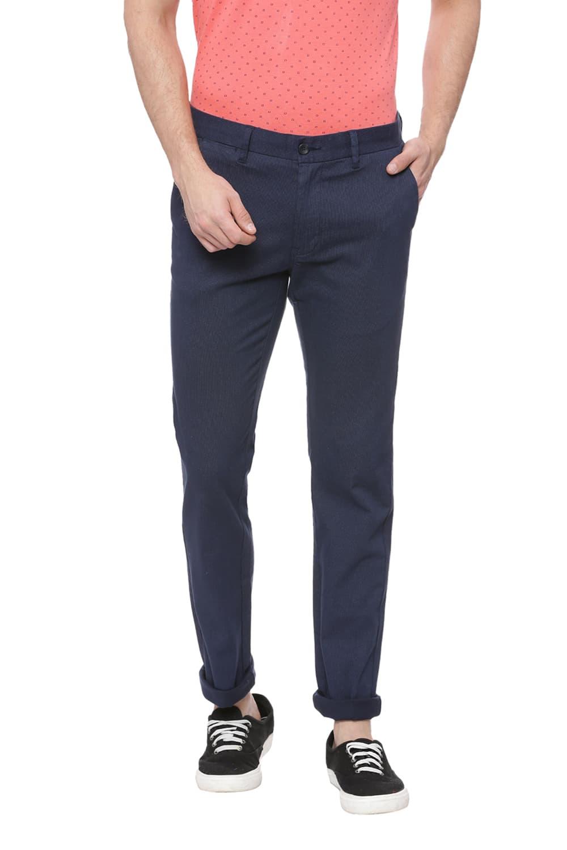 Basics | Basics Tapered Fit Navy Blazer Printed Trouser
