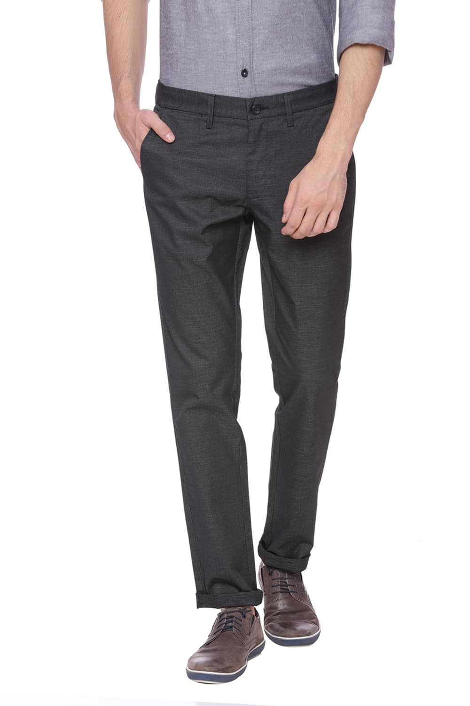 Basics   Basics Skinny Fit Phantom Black Stretch Trouser