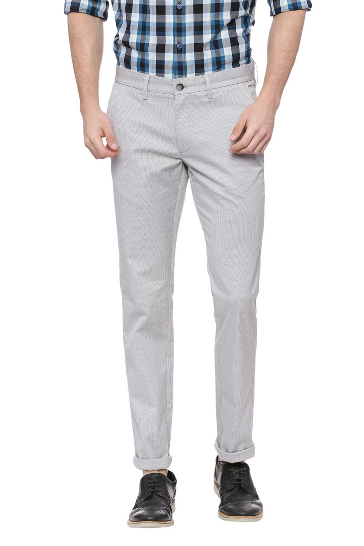 Basics | Basics Skinny Fit Grey Violet Stretch Trouser