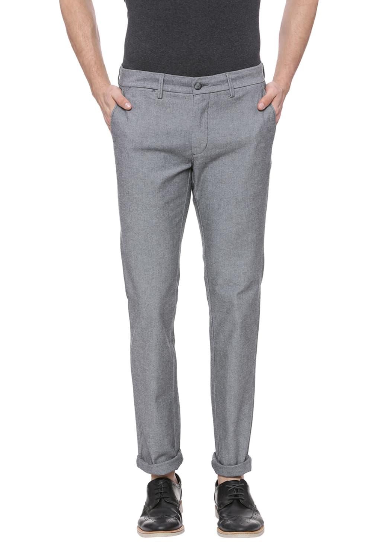 Basics | Basics Skinny Fit Elephant Skin Grey Stretch Trouser