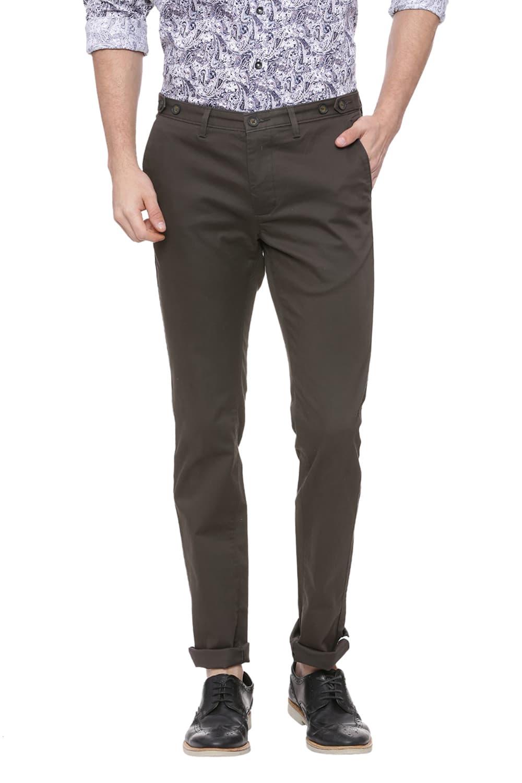 Basics   Basics Skinny Fit Ivy Green Stretch Trouser