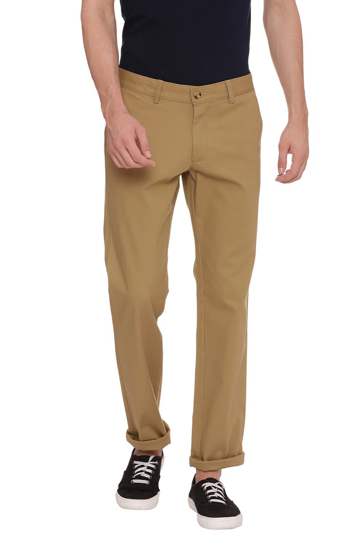 Basics | Basics Skinny Fit Dull Gold Khaki Stretch Trouser