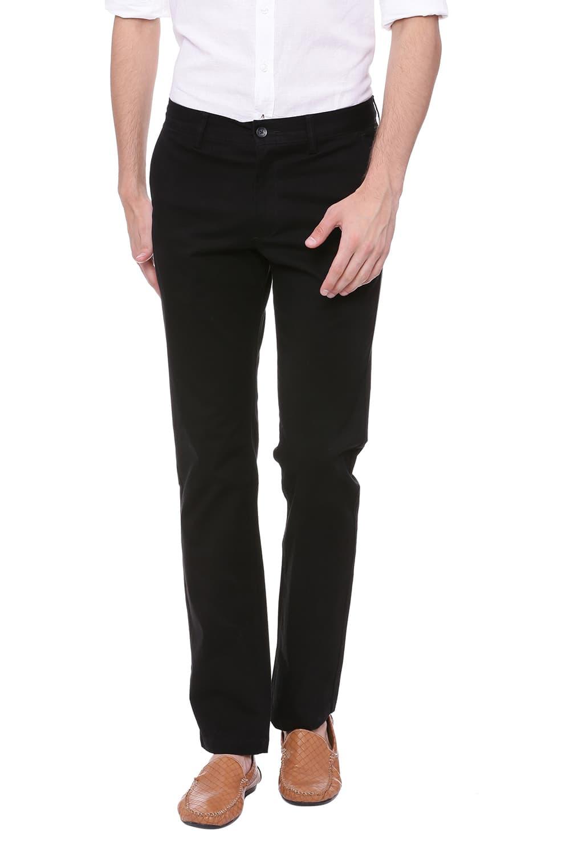 Basics   Basics Slim Fit Jet Set Black Stretch Trouser