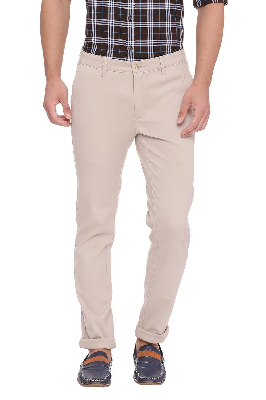 Basics | Basics Skinny Fit Nomad Beige Stretch Trouser