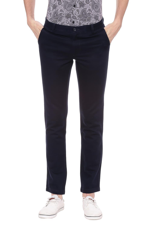 Basics   Basics Skinny Fit Black Iris Navy Stretch Trouser
