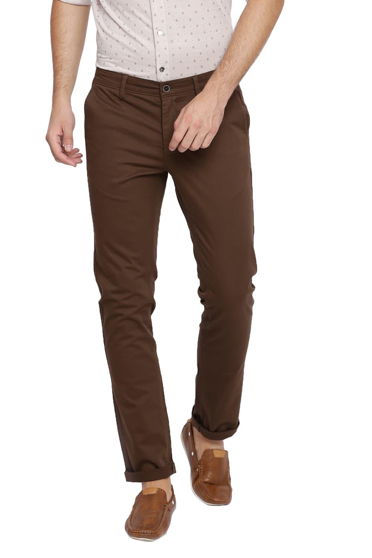 Basics | Basics Skinny Fit Major Brown Stretch Trouser