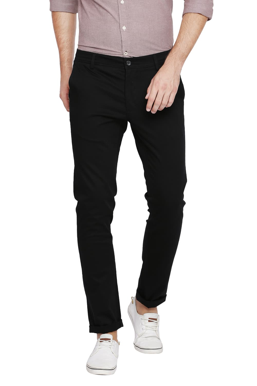 Basics   Basics Skinny Fit Pirate Black Stretch Trouser