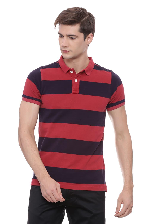 Basics   Basics Muscle Fit American Beauty Polo T Shirt