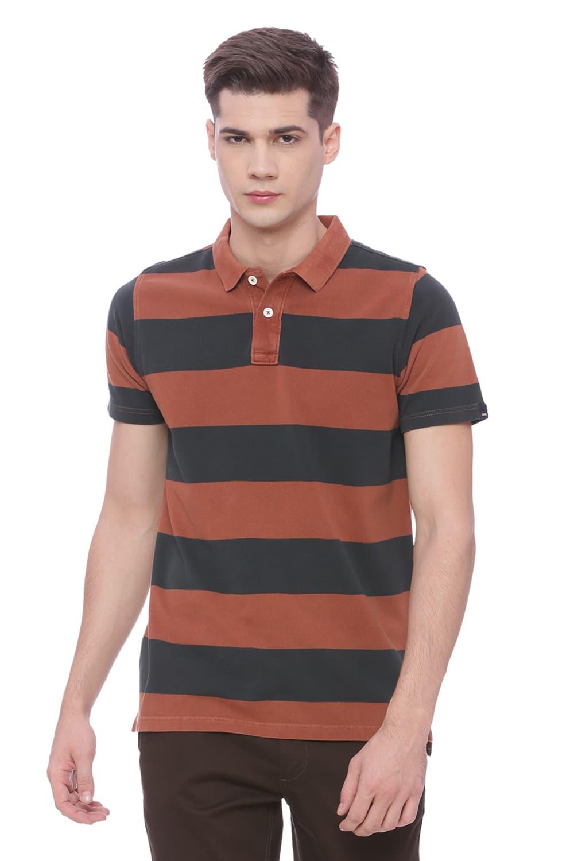 Basics | Basics Muscle Fit Sierra Brown Polo T Shirt
