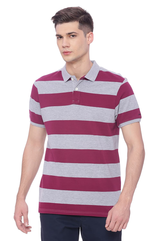 Basics | Basics Muscle Fit Purple Potion Polo T Shirt