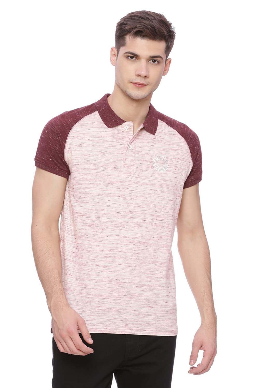 Basics | Basics Muscle Fit Tawny Port Raglan Polo T shirt