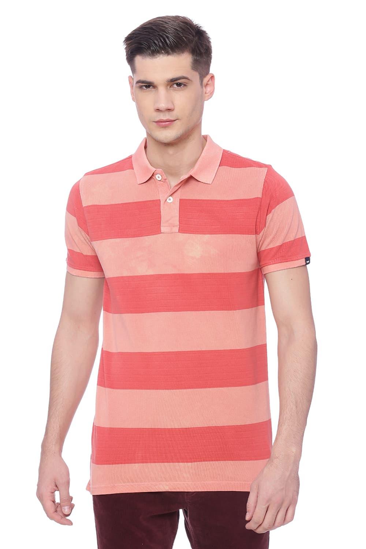 Basics | Basics Muscle Fit Salmon Peach Polo T Shirt