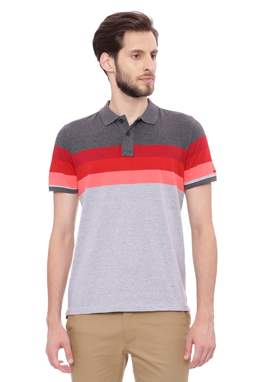 Basics | Basics Muscle Fit Heather Grey Polo T Shirt-18BTS39415
