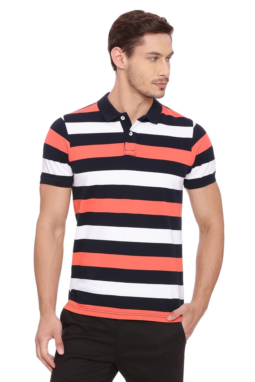 Basics | Basics Muscle Fit Hot Coral Polo T Shirt