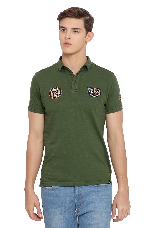 Basics | Basics Muscle Fit Rifle Green Polo T Shirt