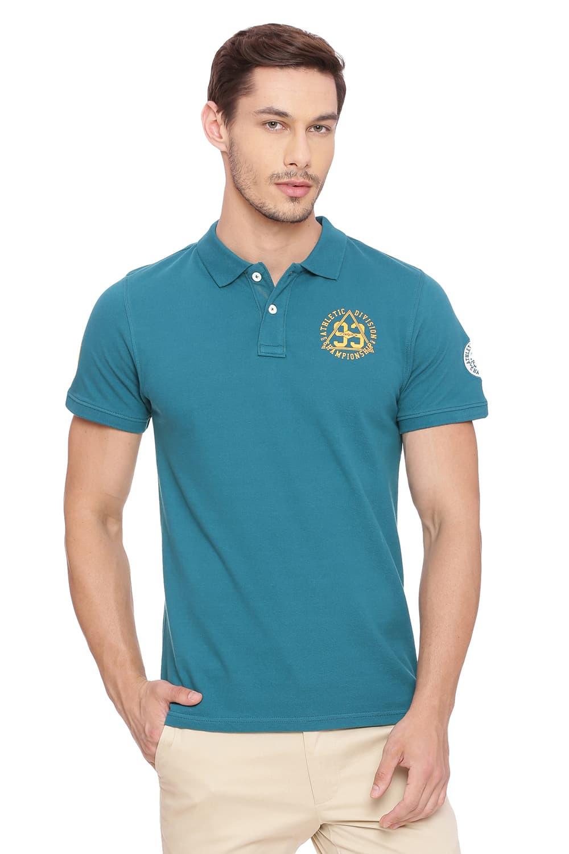 Basics | Basics Muscle Fit Shaded Spruce Polo T Shirt