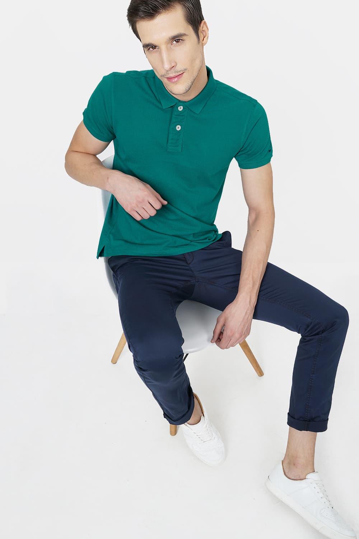 Basics | Basics Muscle Fit Alpine Green Polo T.Shirt-18BTS41529