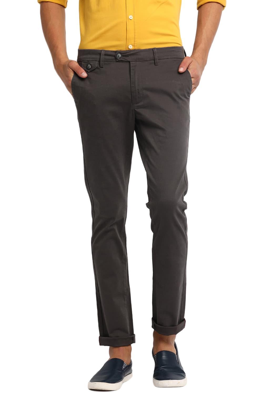 Basics | Basics Tapered Fit Gunmetal Stretch Trouser